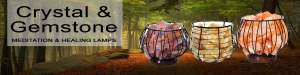 Crystal and Gemstone Meditation and Healing Lamps