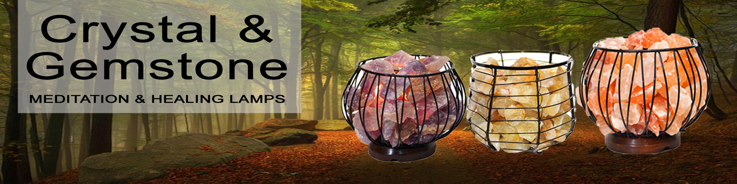 Crystal and Gemstone Meditation and Healing Lamps