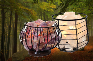 Gemstone and Crystal Meditation and Healing Lamps