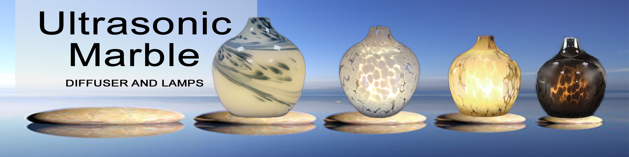 Ultrasonic Marble Diffuser Lamps