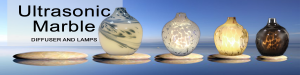 Ultrasonic Marble Diffuser and Lamps